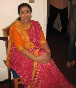 The world's most recorded singer, Asha Bhosle taking a break before a NY concert.