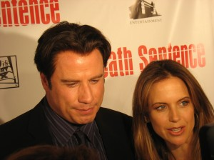 "Actor John Travolta and Kelly Preston at ""Death Sentence"" premiere NY"