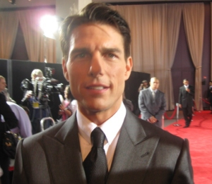 "Actor Tom Cruise poses for The Ravi Report at his movie premier ""Valkyrie"" in NY."