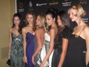 The elegant Armani Models make a surprise visit!