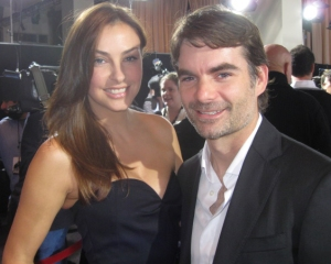 NASCAR icon Jeff Gordon and his stunning wife Ingrid at the movie premiere.