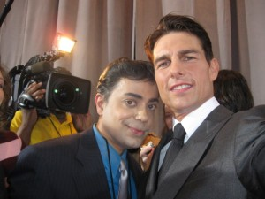 "Tom Cruise and Ravi Yande at the ""Valkyrie"" NY red carpet premiere.  Photo courtesy Tom Cruise."