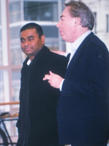 Music Composer/Producer/Singer A.R. Rahman seen here with Andrew Lloyd Weber, has been nominated twice in the Best Song category for the Oscars.