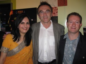 The incredible team of co-director and casting agent Loveleen Tandon, director Danny Boyle and screenwriter Simon Beaufoy