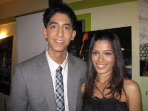 Superstars Dev Patel and Frida Pinto pose for The Ravi Report