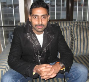 Indian superstar Abhishek Bachchan poses for The Ravi Report in NY.