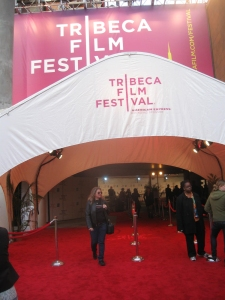 Red carpet entrance to the 2009 Tribeca Film Festival