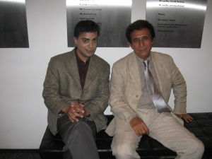 Legendary actor Naseeruddin Shah and Ravi Yande at The New India film festival.