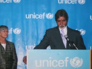 Bollywood Icon Amitabh Bachchan being honored at the UN as Goodwill Ambassador