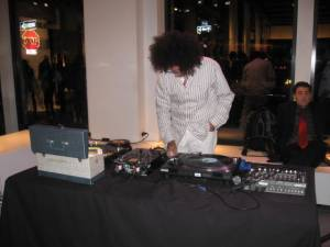 DJ cocktail party at the Theory store was one of the many fashion parties during Fashion Week 2009