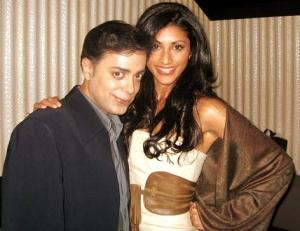 Reshma Shetty poses with Ravi Yande for The Ravi Report