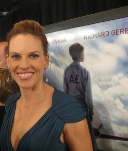 Oscar winning actress Hilary Swank smiles exclusively for The Ravi Report