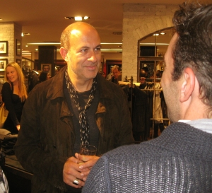Superstar mens designer John Varvatos speaking with guests
