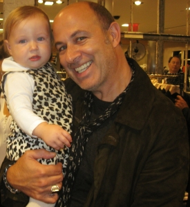 Varvatos and daughter Thea pose exclusively for The Ravi Report