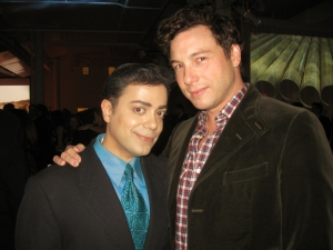 Celebrity Chef/Author Rocco DiSpirito poses with Ravi Yande