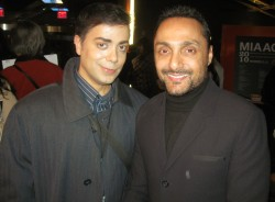 Ravi Yande with international star Rahul Bose