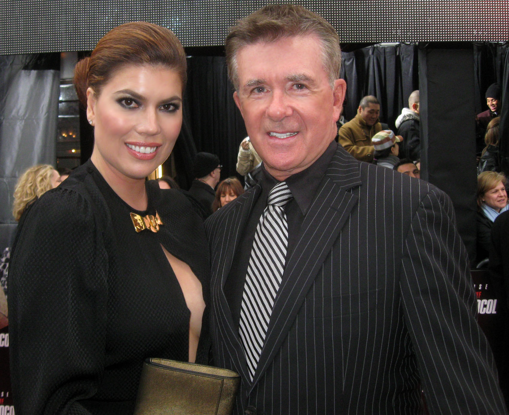 Gorgeous model Tanya Callau and hubby Alan Thicke ...