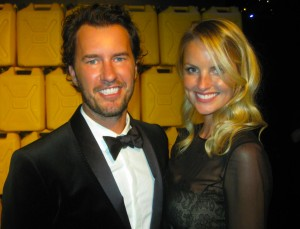 TOMS founder Blake Mycoski and stunning wife Heather Mycoski pose for The Ravi Report