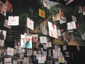 Special Charity:Water Birthday wish tree showed images of donations from around the world
