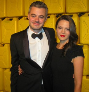 Charity:Water founder Scott Harrison and beautiful wife Viktoria welcomed guests to the event