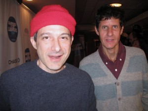 Beastie Boy members Michael Diamond (r) and Adam Horovitz pose for The Ravi Report