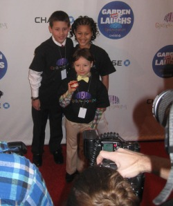 Invited children got to pose on the red carpet like stars!