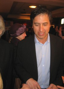 Superstar Ray Romano stops to answer a question from The Ravi Report