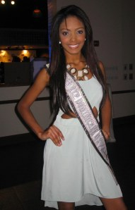 Ms. Dominican Republic US Chantel Martinez flashes that winning smile for The Ravi Report