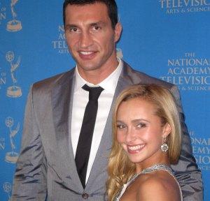 International boxer Vladimir Klitschko with girlfriend, the stunning actress Hayden Panettiere smile for The Ravi Report