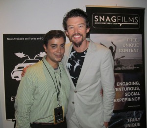 Ravi Yande with Jonathan Bricklin at NY premiere party of The Entrepreneur