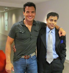 Antonio Sabato Jr. poses with Ravi Yande