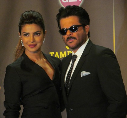 Global superstars Anil Kapoor and Priyanka Chopra pose for The Ravi Report