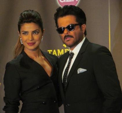 Global superstars Anil Kapoor and Priyanka Chopra pose for The Ravi Report