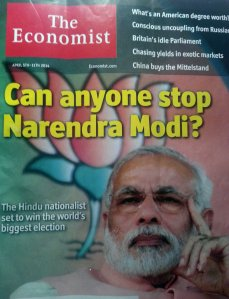 Cover story in The Economist about Narendra Modi before the elections.