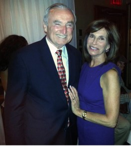 NY Police commissioner William Bratton and his beautiful wife Rikki Kleinman smile for The Ravi Report at the movie premiere