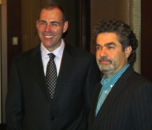 Whitey film director Joe Berlinger along with Bulger defense attorney Hank Brennan at the NY premiere