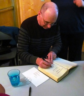 <Andrew Hodges signing copies of The Enigma in Princeton, NJ>