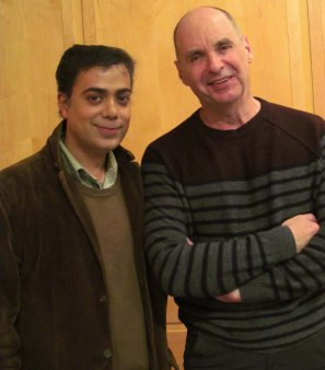 <Ravi Yande with acclaimed author Andrew Hodges>